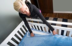 These innovative crib sheets from @quickzip actually zip up in a snap. Genius! #PNpartner