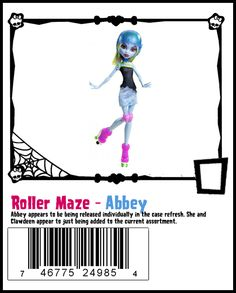 Roller Maze Abbey - (can't wait to get the others! so far only seen lagoona and clawdeen at retail stores)