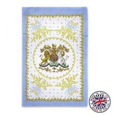 - イギリス雑貨と紅茶とハーブティーのお店 English Specialities ロイヤルコレクション ジョージアン リネンティータオル ブルー