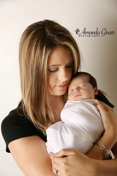 Mommy and Son Newborn Photography