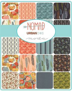 NOMAD by Urban Chiks for MODA fabrics  TWENTY-NINE (29) fat quarters, 18 x 22 each*  Aztec, southwestern style with a retro, yet fresh color