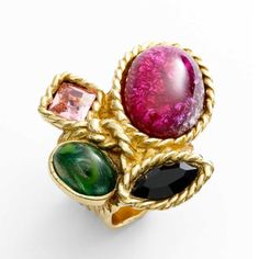 YSL Arty colour cluster ring