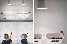 Uma boa idéia para organizar escritórios e quartos de crianças