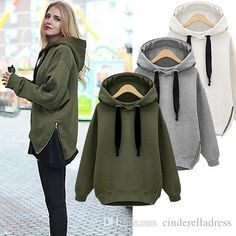 0bfc6b5c31 2019 Letter Arm Green New Winter Autumn Loose Hooded Jacket Plus Size Thick  Velvet Long Sleeve Sweatshirt Korean Style Hoodies OXL092901 From ...