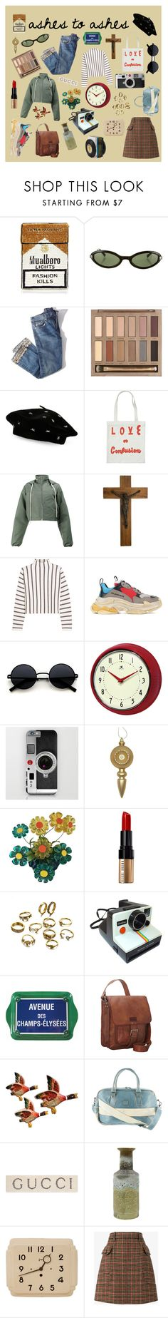 """""""ashes 2 ashes"""" by ranbowi ❤ liked on Polyvore featuring MUA MUA, Moschino, Brock Collection, Urban Decay, Steve Madden, Rick Owens, NOVICA, Maje, Balenciaga and Improvements"""