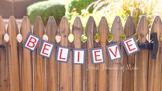 Believe Banner by sweetbannerofmine on Etsy