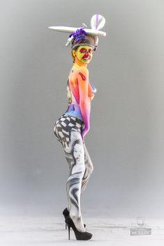 WBF 2014 | Airbrush Qualification 'Pop Art'  Photography: Atelier 'et Lux' (Eve Lumière), Artist ID125: Marcel Kuß - Austria