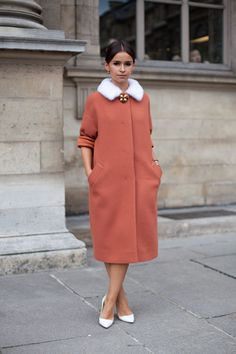 STREET STYLE SPRING 2013: PARIS FASHION WEEK - It's ladylike and a throw-back for Miroslava Duma.