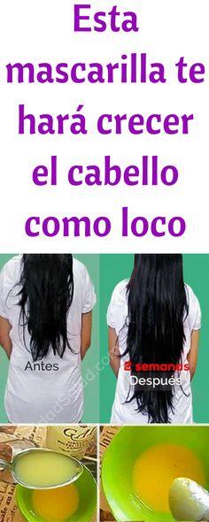 Mascarilla para el cabello que acelera su crecimiento, muy simple de hacer, muy efectiva para cabello seco, maltrato, previene caida #pelo #mascarilla #cabello