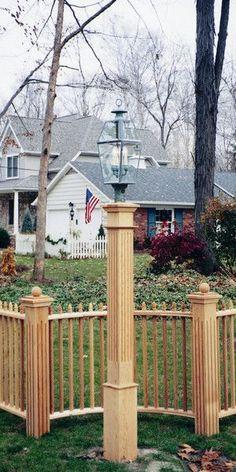 Fluted Style Cedar Lantern Post - Natural