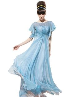 3758a6fc33d8 Nicole in Blue Sheer Evening Dress (56963) £195.00 Dainty blue evening dress  for