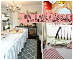 How To Make A Tablecloth: 14 DIY Tablecloth Sewing Patterns