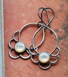 Sterling silver earrings - etsy