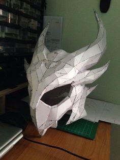 Picture of Deadric Helm Cardboard Mask, Cardboard Sculpture, Cosplay Armor, Cosplay Diy, Pepakura Helmet, Dragon Mask, Foam Armor, Paper Mask, Paper Clay