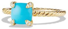 David Yurman Ch'telaine Ring with Turquoise and Diamonds in 18K Gold. Turquoise jewelry. I'm an affiliate marketer. When you click on a link or buy from the retailer, I earn a commission.