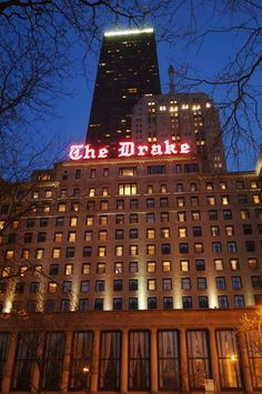 A sign you're in Chicago? The Drake Hotel (Chicago Pin of the Day, 10/18/2014)