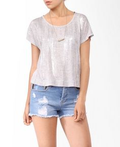 Metallic Mélange Top from Forever21.com