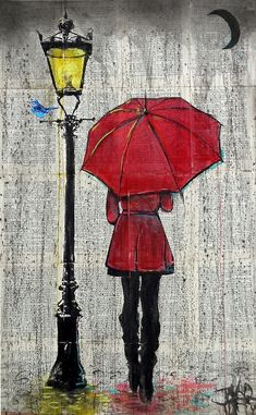 weather or not by Loui Jover Redbubble Umbrella Painting, Umbrella Art, Drawing Umbrella, Newspaper Art, Art Drawings Sketches, Painting & Drawing, Watercolor Paintings, Easy Paintings, Cool Art