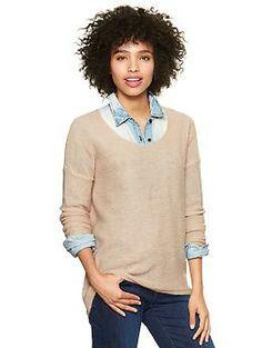 Sparkle circle-hem sweater | Gap