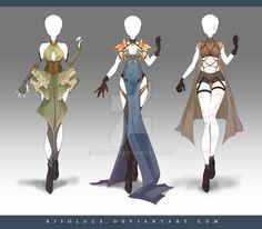 (OPEN) Adoptable Outfit Auction 171-173 by Risoluce.deviantart.com on @DeviantArt