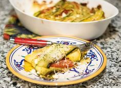 Zucchini and yellow squash strips, along with tomatoes and plenty of cheese, are cooked in Missouri wine and fresh green onions until bubbly golden goodness ensues | MO Wines Quick Recipes, Wine Recipes, Roma Tomatoes, Pie Plate, Fresh Green, Recipe Using, Missouri, Squash, Feta
