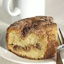 Tender coffeecake with crunchy walnuts and cinnamon.