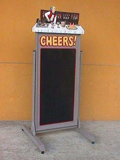 Pop Art Decoration - Restaurants & Commercial - Menus & Chalkboards - Cheers Swing Plate Chalkboard Menu Bar Keeper