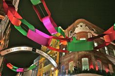 Carnaby Street Christmas decorations 2007 - Photograph by Mike Peel
