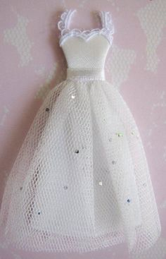PAPER CRAFT DRESSES | ... Embellishments > Bridal Wedding Dress Tuile Embellishment for Cards