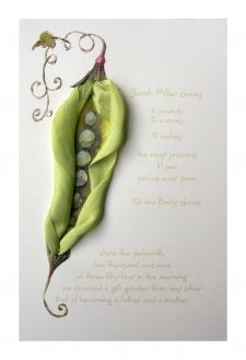 "Wow, this invitation is *stunning*. Want, want, want... (""Peas, Please"") from FoxyBox"