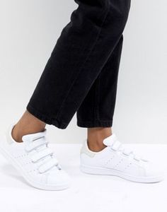 adidas Originals Stan Smith Comfort Sneakers In White And Gray