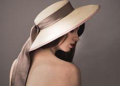 Florence Wide brim Panama finished with a simple silk satin sash www.natashamoorhouse.com