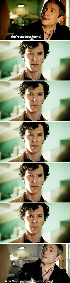 i loved this scene. sherlock never thought he'd be someones best friend, let alone have a friend....