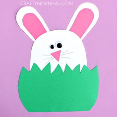 How to make easter paper plate basket easter diy bunny diy ideas diy bunny hiding in the grass craft template by onecraftymorning solutioingenieria Choice Image