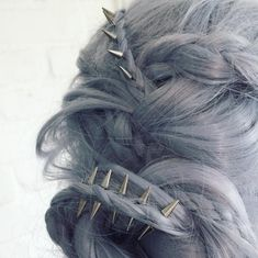 Hair Accessories regal rose phoenix hair spikes More - Protective Hairstyles, Hairstyles Haircuts, Latest Hairstyles, Wedding Hairstyles For Long Hair, Pretty Hairstyles, Pelo Multicolor, Phoenix Hair, Edgy Hair, Hair Rings