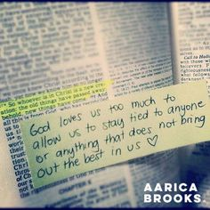 It isn't easy and it won't feel good...let go, trust and allow God to put you in a position to give you His best.