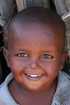 Baby smiling, Djibouti by Eric Lafforgue, via Flickr