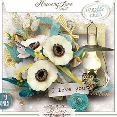 Flowery Love by Tifscrap http://digital-crea.fr/shop/index.php?main_page=index&cPath=155_291