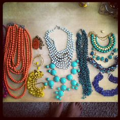 Summertime means busting out the brightest necklaces!