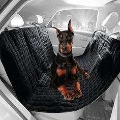 """Viewpets Deluxe Big 58"""" L * 54"""" W Water Repellant Box Quilted Heavy Micro Suede Black Soft Pet Hammock Seat Cover Bench Rear Seat Cover for Dogs Travel Car Seat Protector HERE ARE WHAT WE CAN SUPPLY! TAKE CARE OF YOUR NEAT CAR SEAT AND YOUR DEAR PETS! YOUR PET DESERVE IT! - Adjustable car seat head straps Read  more http://dogpoundspot.com/viewpets-deluxe-big-58-l-54-w-water-repellant-box-quilted-heavy-micro-suede-black-soft-pet-hammock-seat-cover-bench-rear-seat-cover-for-do"""