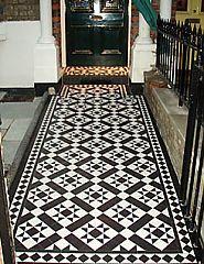 Carron a black and white victorian tiles