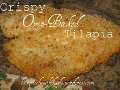 Crispy Oven Baked Tilapia This salt baked fish recipe is fish crusted in salt and slid in the oven and baked until moist and tender and perfect. Tilapia Recipe Oven, Oven Baked Tilapia, Sauce For Tilapia, Cooking Tilapia In Oven, Baked Breaded Tilapia, Tilapia Tacos, Oven Fried Fish, Fried Tilapia, Pisces