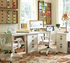 Shop Pottery Barn for home office furniture collections featuring desks, cabinets and storage solutions. Find office furniture perfect for creating a workspace at home. Home Office Organization, Office Decor, Office Ideas, Organized Office, Organizing, Office Setup, Study Office, Office Workspace, Office Storage