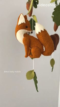 Really Cute Vintage Style Wood and String Mobile Hanging Toy LION