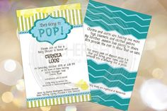She's About to POP  50 Baby Announcements by CherishByNoel on Etsy, $31.00