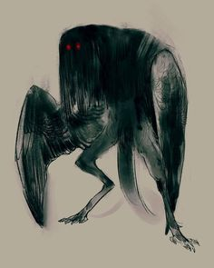 Harpy that turned into a mothman 🏙 is it a tail? Mythological Creatures, Fantasy Creatures, Mythical Creatures, Monster Concept Art, Monster Art, Creature Concept Art, Creature Design, Dark Fantasy Art, Dark Art