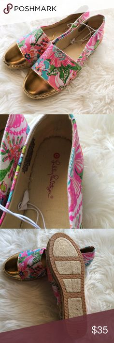 ♦️reserved♦️Lilly Pulitzer Target size 7 7.5 flats NWT, adorable Lilly Pulitzer for target espadrilles size 7, should fit 7.5 Lilly Pulitzer for Target Shoes Espadrilles