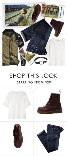 """""""Jung Hoseok / Je ne regrette rien / BTS concept photos"""" by the92liner on Polyvore featuring Uniqlo, Dr. Martens and 7 For All Mankind"""