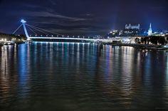 Danube in Bratislava, Slovakia - night HDR