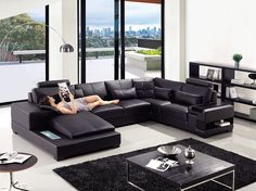 Stylish Design Furniture - Divani Casa  T285 - Modern  Leather Sectional Sofa, $2,505.00 (http://www.stylishdesignfurniture.com/products/divani-casa-t285-modern-leather-sectional-sofa.html)